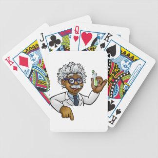 Baralhos Para Pôquer Personagem de desenho animado do cientista que