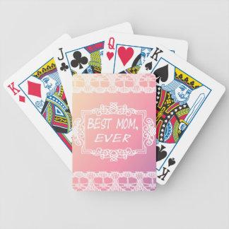 Baralhos Para Pôquer Presente Pastel do dia das mães do melhor rosa da