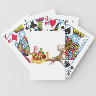 Baralhos Para Pôquer Rena do trenó do trenó de Papai Noel do Natal