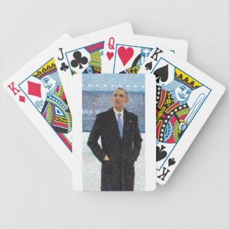 Baralhos Para Pôquer Retrato abstrato do presidente Barack Obama 10a.jp