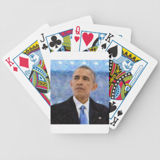 Baralhos Para Pôquer Retrato abstrato do presidente Barack Obama 30x30