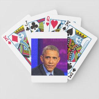 Baralhos Para Pôquer Retrato abstrato do presidente Barack Obama 8