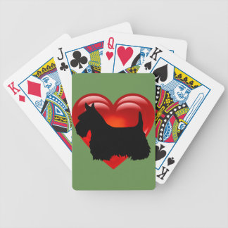Baralhos Para Pôquer Scottish coração de Terrier/arco/colar vermelhos