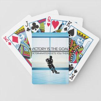 Baralhos Para Pôquer Slogan SUPERIOR da vitória do hóquei