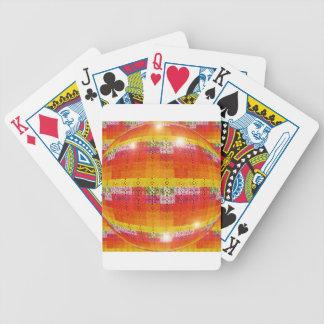 Baralhos Para Pôquer Teste padrão alaranjado da bola do disco