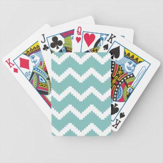 Baralhos Para Pôquer Teste padrão geométrico do ziguezague - azul e