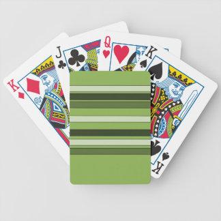 Baralhos Para Pôquer Teste padrão horizontal verde das listras das