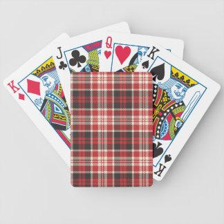 Baralhos Para Pôquer Teste padrão vermelho e preto da xadrez