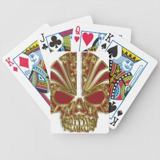 Baralhos Para Pôquer Vermelho e crânio do crânio do açúcar do ouro