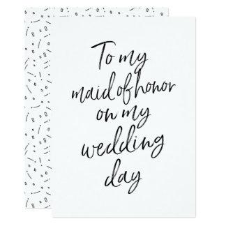Barato a minha madrinha de casamento em meu dia do convite 12.7 x 17.78cm
