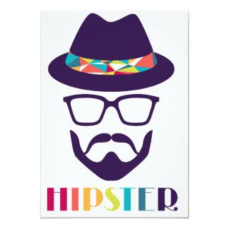 barba legal do divertimento dos vidros do chapéu convite 12.7 x 17.78cm