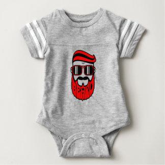 barba vermelha body para bebê