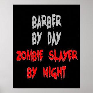 Barbeiro do assassino do zombi pôster