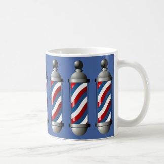 Barberpoles moderno caneca de café