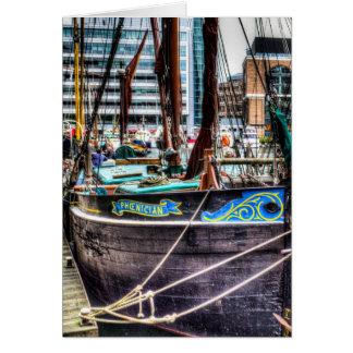 Barcas da navigação de Tamisa do rio Cartão