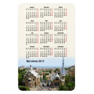 Barcelona, calendário da espanha 2017 ímã