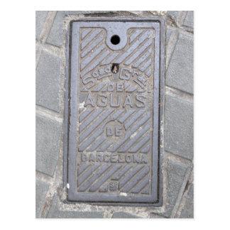 Barcelona, cartão de serviço público do cobrir da cartão postal