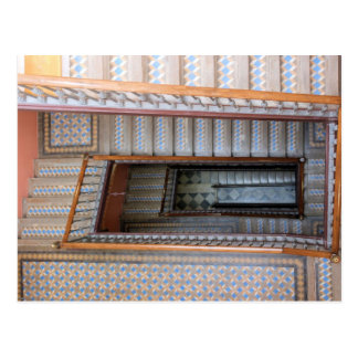 Barcelona, espanha - cartão da escadaria do azulej cartão postal