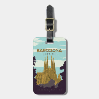 Barcelona, espanha - Sagrada Familia Tag De Bagagem
