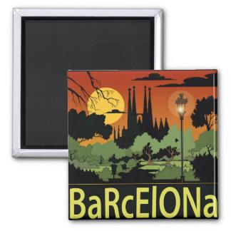 Barcelona. ímã ímã quadrado