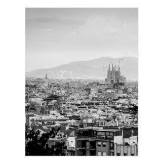 Barcelona preto e branco cartão postal