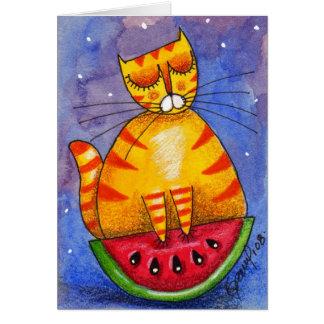 Barco da melancia - cartão