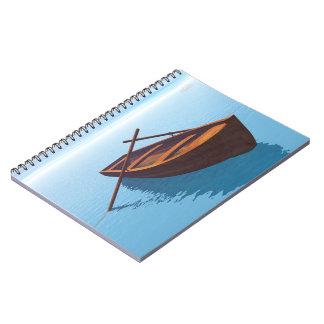 Barco de madeira - 3D rendem Cadernos Espiral