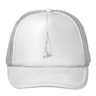 Barco de navigação. Esboço em preto e branco. Bones