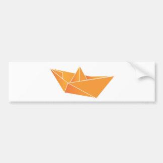 Barco de Origami Adesivo Para Carro
