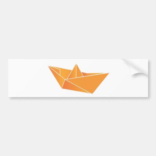 Barco de Origami Adesivo