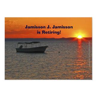 Barco de pesca do anúncio da aposentadoria no por