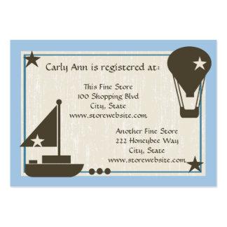 Barco de vela do cartão do registro do chá de cartão de visita grande