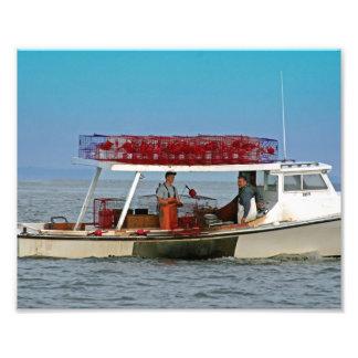 Barco do caranguejo, baía de Chesapeake Fotografia