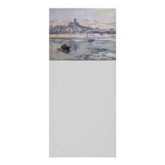 Barco do en Hiver de Vetheuil no rio 10.16 X 22.86cm Panfleto