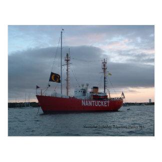 Barco-farol de Nantucket, cartão do porto de
