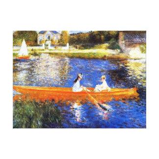 Barco nas belas artes de Seine River Renoir Impressão Em Tela