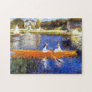 Barco nas belas artes de Seine River Renoir Quebra-cabeça