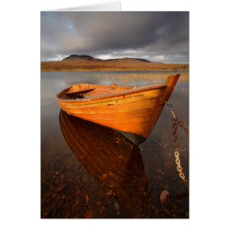 Barco no Loch, vertical. Cartão pelo cARTerART