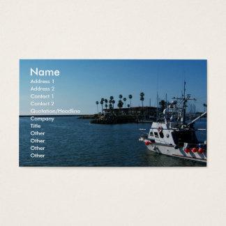 Barco no perto do oceano, cartões do CA-Negócio