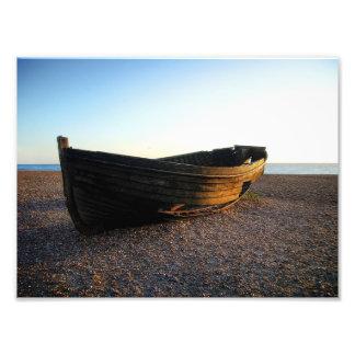 Barco no pôr-do-sol impressão de foto