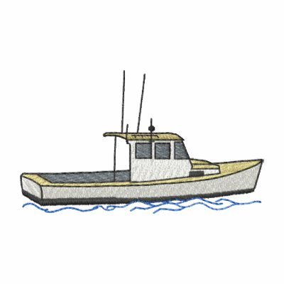 Barco pequeno da lagosta agasalho track de lã bordado