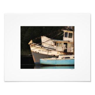 Barcos abandonados porto de Georgetown Impressão De Foto