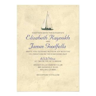 Barcos antigos que Wedding convites