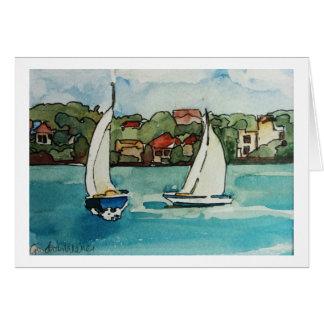 Barcos de vela em Sydney - cartão vazio