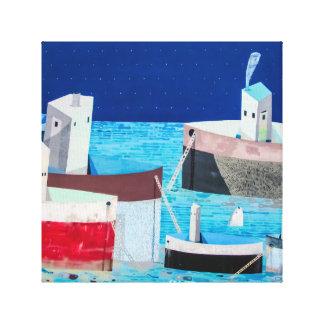 Barcos na arte das canvas dos grafites do abstrato