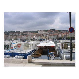 Barcos no cartão de Marselha