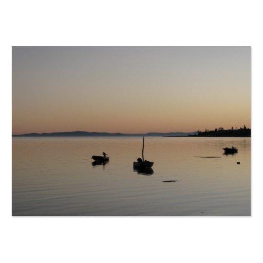 Barcos no crepúsculo modelos cartoes de visitas