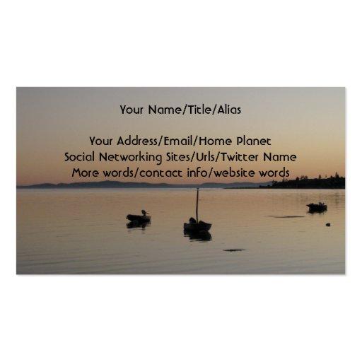 Barcos no crepúsculo cartão de visita