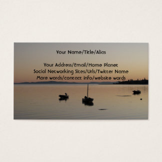Barcos no crepúsculo cartão de visitas
