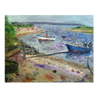 barcos no napeaque, o Hamptons Cartão Postal